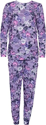 Femmes florale piste de vacances Tracksuit 44-56 purple