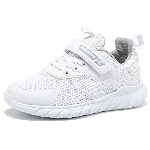 GUFANSI Turnschuhe Kinder Sneaker Jungen Sportschuhe Mädchen Hallenschuhe Outdoor Laufschuhe Für Unisex-Kinder Weiß 26