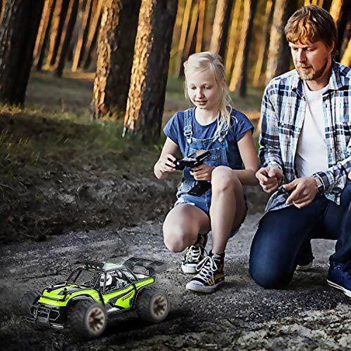 RC Auto kaufen Truggy Bild 6: Aandyou Ferngesteuertes Auto,1:16 RC Auto,2.4GHz Ferngesteuertes Monstertruck,High Speed RC-Auto mit 2 wiederaufladbaren Batterien*