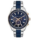 Armani Exchange Herren Chronograph Quarz Uhr mit Edelstahl Armband AX1819