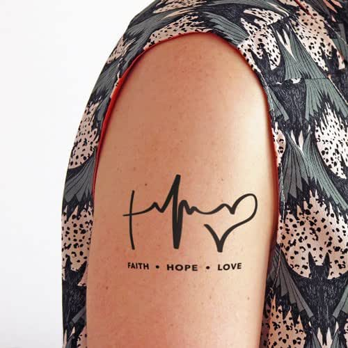 Faith hope and love temporary tattoo set of 2 amazon for Fake tattoos amazon