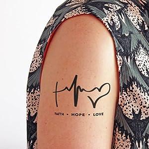 Glaube, Hoffen, Die liebe – 2 Temporäres Tattoo