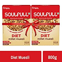 Soulfull Millet Muesli Diet Super Saver Pack - No Added Sugar, 800g