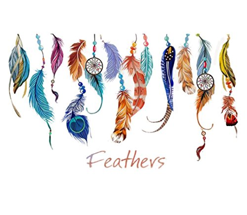 vidlan-classic-creative-dream-catcher-feather-wandtattoo-kunst-aufkleber-wandbild