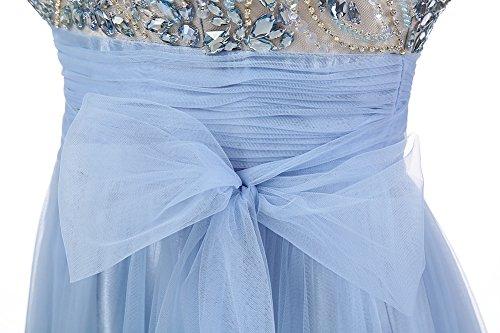 Dresstells Damen Abendkleider Tüll Bodenlang Cocktail-Kleider Grape