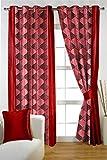 HOMEC Trendy Printed Door Curtains Set o...