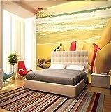 WH-PORP Moderne Tapete-3d Hintergrund Große Drucken 3d Fotos Bikini Beauty Bar Tapeten Wohnkultur 3D Tapete für Wohnzimmer-200cmX140cm