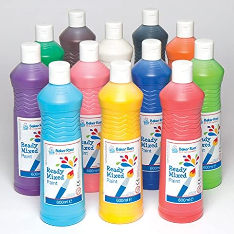 Ready Mixed Water Based Paint for Painting Arts & Crafts