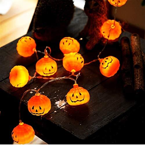 G6shopping Halloween-Lichterkette, 20 LEDs, 1,8 m, batteriebetrieben, Kürbis-Lichter für Zuhause, Party, Halloween-Dekoration