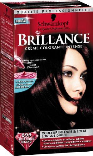 schwarzkopf brillance coloration permanente noir rouge organdi 896 - Shampoing Colorant Schwarzkopf