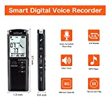 from ieGeek ieGeek Portable Digital Voice Recorder Multifunctional Rechargeable Mp3/WMA Sound Audio Recorder/Dictaphone,1536Kbps Dynamic Noise Reduction, Double Microphone,MP3 Music Player with Mini USB Port and Color LCD display, Voice Activated ,Perfect for Lectures, Conferences, Lectures, Meetings and Interviews-8GB (Black) Model SV0335