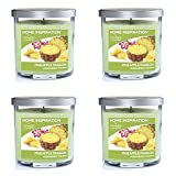 (4 Stück) Home Inspiration von Yankee Candle Ananas Passion Home Duft Aromatherapie Luxus Duft Parfümierte Kerze Glas mit Deckel – ca. Brenndauer ca. 40 Stunden – 2 Dochte