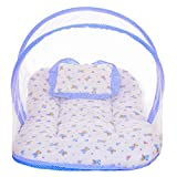 #7: Littly Dual Color Bedding Set with Foldable Mattress, Mosquito Net and Pillow (Blue)