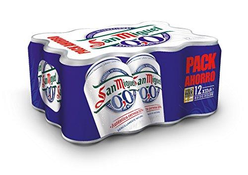 San Miguel 0,0% Cerveza - Paquete de 12 x 330 ml - Total: 3960 ml