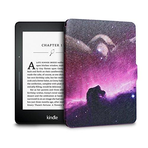 WALNEW Schutzhülle für Amazon Kindle Voyage (2014)-Die dünnsten und leichtesten Bunte Gemälde PU-Leder, mit automatischer Sleep/Wake Funktion