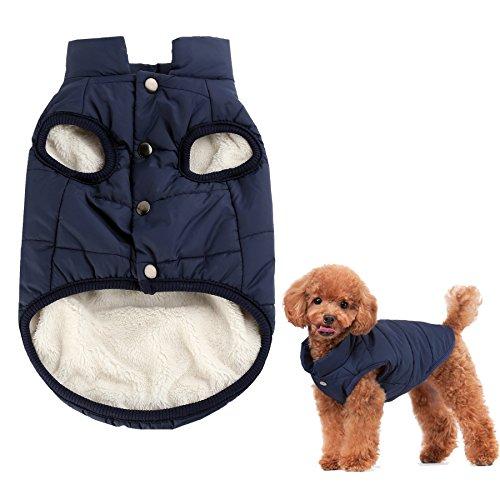 Kismaple Perro Cosy Fleece Jacket Puppy Invierno Ropa de abrigo forrada caliente...