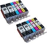 12 kompatible YouPrint Druckerpatronen für Canon Pixma MG5750, MG5751, MG6850, MG7750, MG5750, MG5751, MG5752, MG5753, MG6850, MG6851, MG6852, MG7750, MG7751, TS5050, TS5051, TS5053, TS5055, TS6050, TS6051, TS6052, TS8050, TS8051, TS8052, TS8053, TS9050, TS9055 Ersetzen PGI-570BK XL, CLI-571C XL, CLI-571M XL, CLI-571Y XL Und CLI-571BK XL Mit Chip