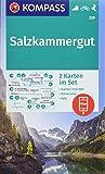 KOMPASS Wanderkarte Salzkammergut: 2 Wanderkarten 1:50000 im Set mit Panorama inklusive Karte zur offline Verwendung in der KOMPASS-App. Fahrradfahren. Skitouren. (KOMPASS-Wanderkarten, Band 229)