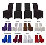 Covering All Occasions Chair Covers Stretch Fit Lycra Spandex | Flat Fronted | Dining Room Wedding Banquet Party - Ivory 1