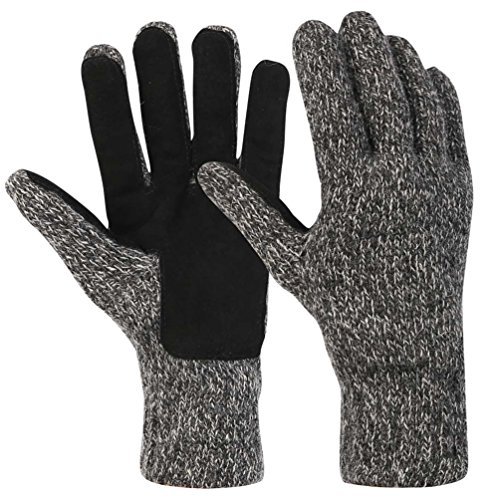 Novawo Wool Blend Knit Convertible Insulating Fingerless Gloves with Mitten Cover