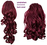 PRETTYSHOP 2 in 1 40cm e 50cm di estensioni dei capelli parrucca coda di cavallo fibre sintetiche ingombranti eresistente al calore rosso # 118 H18-2