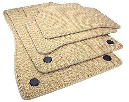 kfzpremiumteile24 Fußmatten / Velours RIPS Automatten Original Qualität Stoffmatten 4-teilig beige