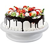 New Cake Decorating Turntable Rotating Cake Stand White [UK Stock]