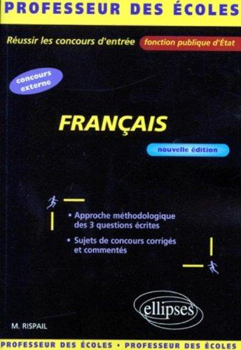 Français : Préparation au concours de recrutement des professeurs des écoles