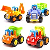 Best Toys 4 Year Old Girl - Toykart Unbreakable Construction Automobiles Vehicles Toys(Set of 4) Review