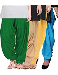 Crafts 100% Pure Solid Cotton Semi Patiala Salwar Bottoms Indoor Outdoor For Women's & Girls( Color Baby Pink... - B0764D7WZL