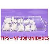 100 TIPS - uñas postizas color NATURAL- 10 tamaños diferentes.
