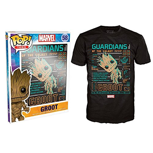 Funko Pop Tees: Guardians of the Galaxy - Groot Line Up (X-Large)