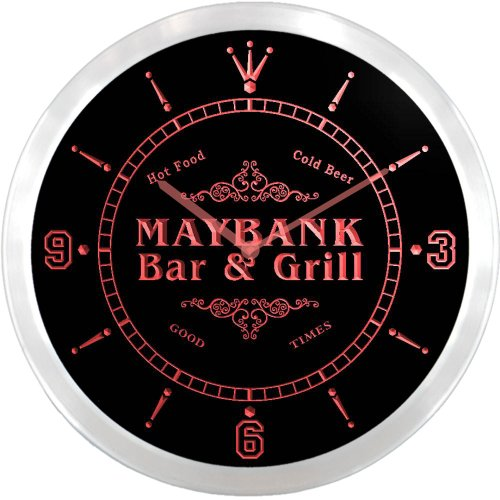 ncu28979-r-maybank-family-name-bar-grill-cold-beer-neon-sign-led-wall-clock