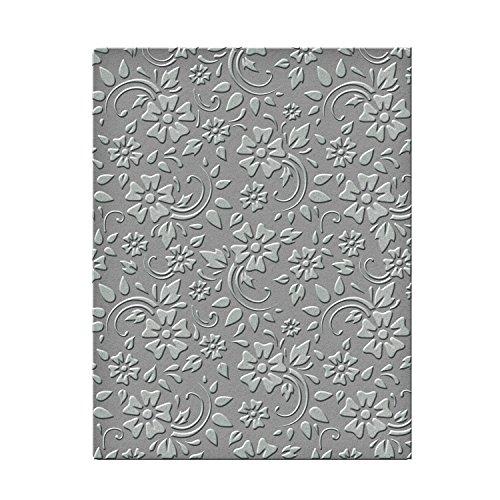 """Spellbinders-Sagome per decoro """"Fiori e foglie"""" per goffratura, in materiale sintetico, colore: trasparente"""