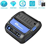 Bluetooth Etikettendrucker Thermodrucker Etikettendrucker 80 mm Tragbarer Mini-Mobildrucker Bluetooth Etikettendrucker Unterstützung POS Android IOS