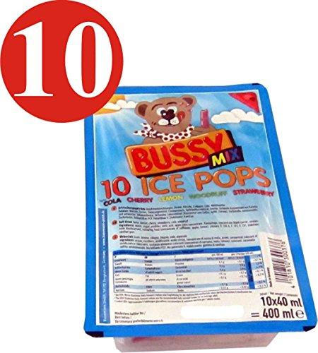 Bussy Mix Erfrischungsgetränk ice pops Wassereis 10x400ml=4000ml Eis zum einfrieren Eis