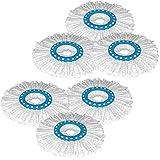 Primeway Microfibre Mop Head Refill, Disc Dia. 16Cm, 6 Pcs Set