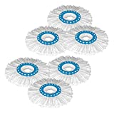 Primeway Microfibre Mop Head Refill, Disc Dia. 16Cm, 6 Pcs Set