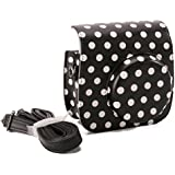 [Fujifilm Instax Mini 8 Case] - Nodartisan Comprehensive Protection Instax Mini 8 Camera Case Bag With Soft PU Leather Material (Dot Black)