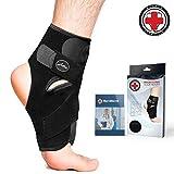 Von Ärzten entwickelte Premium-Knöchelbandage mit Kupferfasern [Single] und Handbuch - garantierte Linderung und Unterstützung bei Knöchelverletzungen und anderen...