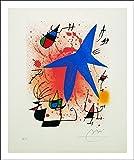 L'AFFICHE ILLUSTREE Mirò ' Composition ' Stampa artistica in offset su carta di spessore e di gr.300 (cartoncino) cm.60 x 80 cod.33266