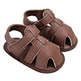 Baby Summer Anti-Slip Adventure Seeker Walking Sandals Soft Sole Walking Shoes Brown Size S