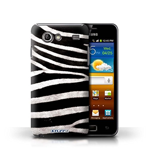 Coque en plastique pour Samsung Galaxy Advance Collection Motif Fourrure Animale - Léopard Zèbre