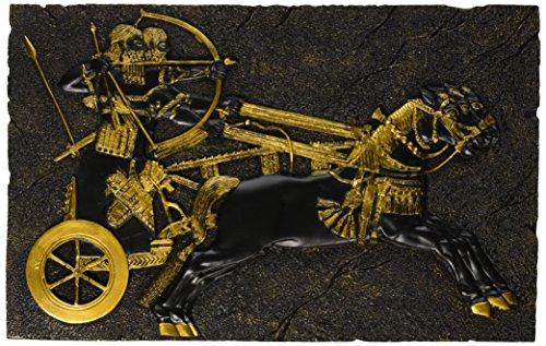 Design Toscano Assyrischer Kriegsstreitwagen, Wandfigur