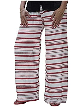 Indian Handicrfats Export DiscountZila Flared Women's White, Brown Trousers
