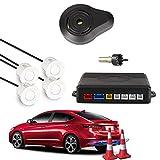 Car Rover® Auto Einparkhilfe Rückwärtseinparken Auto Rückfahrradar Rückradar Radar mit 4 Sensoren und Summer weiß