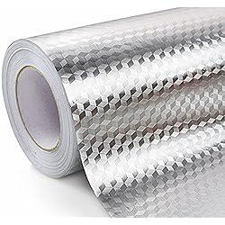 WDragon Kitchen - Pegatinas de Aluminio Impermeables, antigrasa, antigrasa, para Pared, 61 x 200 cm