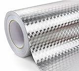 WDragon Küche Wasserdicht Aluminium Folie Aufkleber Anti fettige Counter Top Abziehen Stick Wand Aufkleber, 61x 200,7cm Wz-2