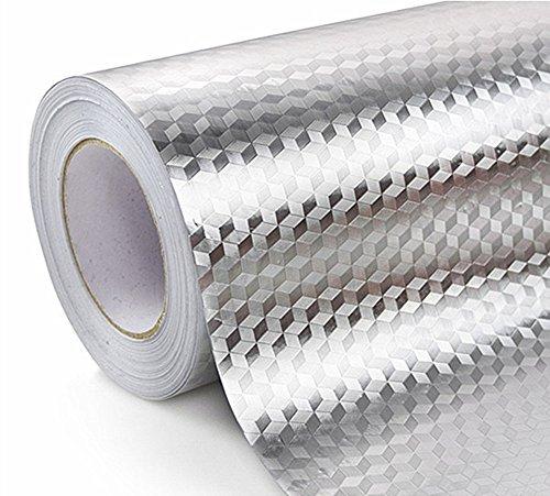 WDragon Küche Wasserdicht Aluminium Folie Aufkleber Anti fettige Counter Top Abziehen Stick Wand...