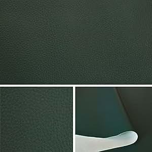 Skaï simili cuir Vert tissu au metre, tissu d'ameublement T073 04
